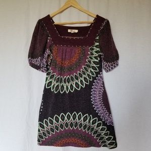 Aryeh geometric print sweater dress size medium.